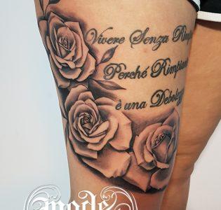 Roses on the leg
